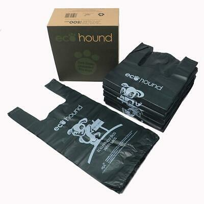 Ecohound 500 Large Thick Premium Quality Dark Green Dog Waste Bags With Easy...