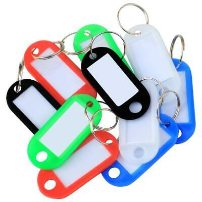 TRIXES Key Tags - Colour Coded Plastic - with Paper Label Inserts - Pack of...