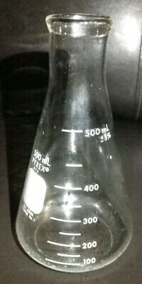 Corning PYREX Glass 500mL Narrow Mouth Graduated Erlenmeyer Flask, 4980-500