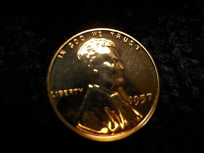 1957 P BU RED Proof Uncirculated Lincoln Wheat penny