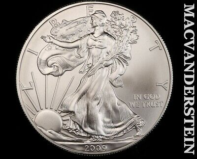 2009 American Silver Eagle 1 Ounce-Ch Gem Brilliant Unc!! No Reserve!! #f3412