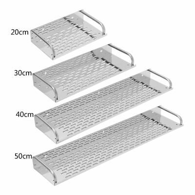 Kitchen Bathroom Stainless Steel Shelf Wall-mounted Storage Rack Single Layer