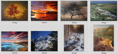 Art prints canvas transfer from oil paintings landscape Giclee Multi-Piece