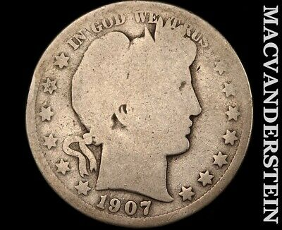 1907-D Barber Half Dollar-Scarce Better Date!!#b3952