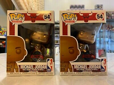 Two Pieces/Lot Michael Jordan Bronze Exclusive Funko Pop! (On Hand)