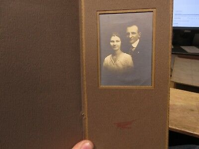 1930s Antique Old Cabinet Photo Picture Beloit Wisconsin Couple Engagement Sepia