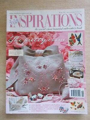 Inspirations #59~Embroidery Projects~Bag~Hummingbird~Quilt~Hardanger~Blanket...