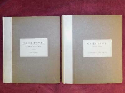 GREEK PAPYRI by GRENFELL/LATIN PTOLEMAIC EGYPT/ROMAN/2 BOOKS/RARE 1896 1st $300+