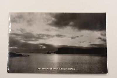 Sunset Over Groken Heads Shetland Real Photo Posted 1968