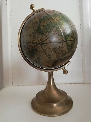 Antique World Globe Brass Vintage Collectible Desktop Item Gift Item office rare