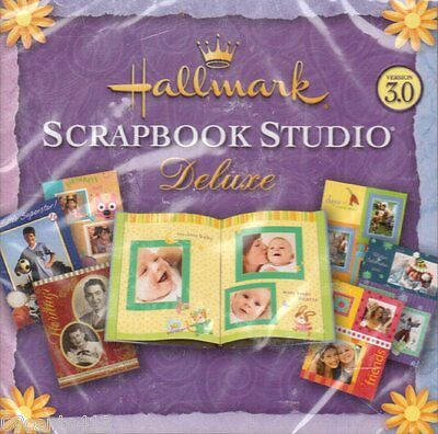 Hallmark (2-Disc PC) Scrapbook Studio Deluxe Version 3.0 Software NEW
