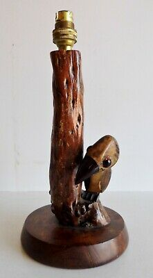 EXTREMELY RARE 1930's YZ BIRD FATURAN LAMP BASE - HENRY HOWELL / ALFRED DUNHILL