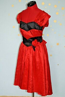 80s vintage saloon girl dress