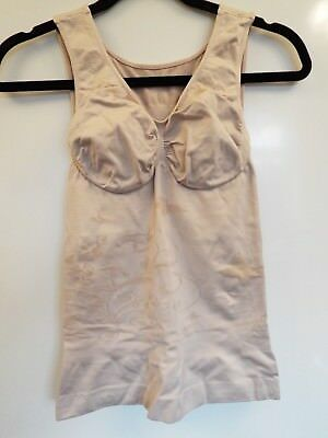 Vercella Vita Medium Control Shaping Butterfly Swirl Cami Size Large Sandalwood