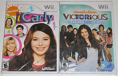 Nintendo Wii Game Lot - Nickelodeon iCarly (New) Victorious Taking the Lead