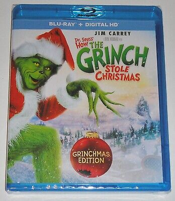 Dr. Seuss' How the Grinch Stole Christmas (Blu-ray Disc, 2015) NEW