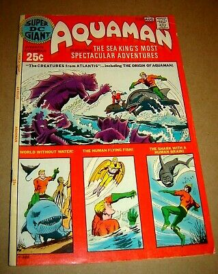 Super DC Giant S-26 featuring the Origin of Aquaman! 1971 VG+