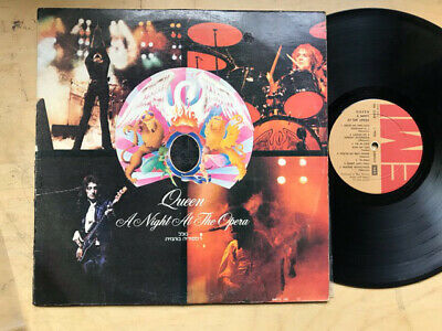 QUEEN A NIGHT AT THE OPERA LP rare issue with unique cover - record has lots of