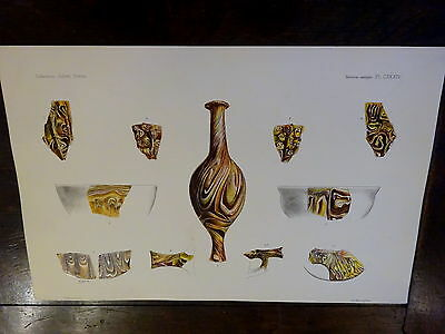 Antique Lithograph Froehner Wilhelm 1903 Ancient Glass Archaeology RARE PRINT 13