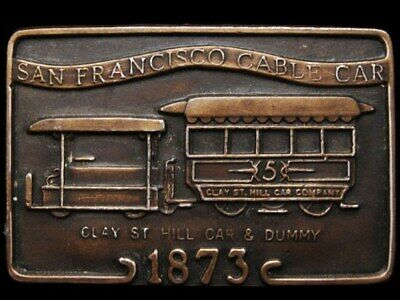 JB09141 VINTAGE 1970s **SAN FRANCISCO CABLE CAR** 1873 BELT BUCKLE