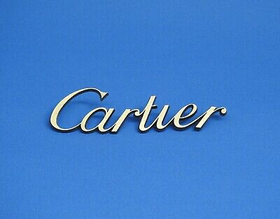 Original Cartier Dealer's Brass Sign Pre-Owned