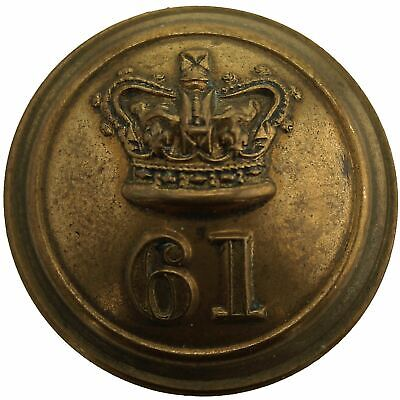 VICTORIAN 61st Regiment of Foot South Gloucestershire OFFICERS Tunic Button 25mm