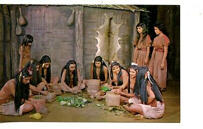 Cherokee Native American Indian Women-Unto These Hills Drama-Vintage Postcard