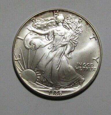 1986 American Silver Eagle Dollar - BU Condition - 222SA