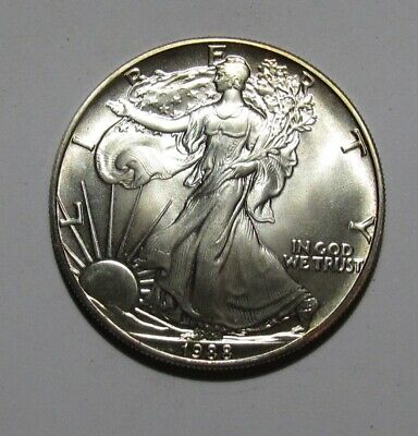 1988 American Silver Eagle Dollar - BU Condition - 224SA