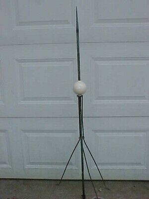 Lightning Rod With White Pottery  Ball