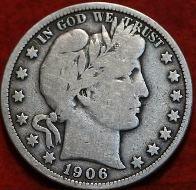 1906 Philadelphia Mint Silver Barber Half Dollar