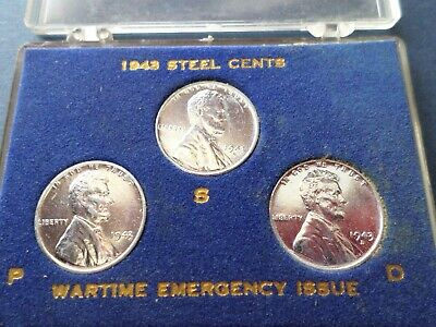 1943 Lincoln Steel Cent Year Set--Wartime Issue