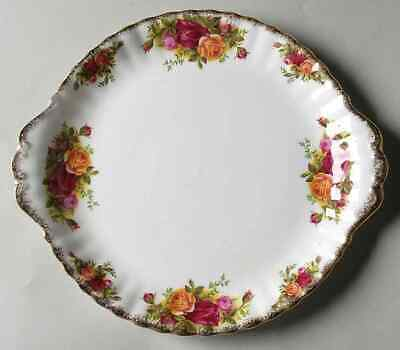 "Royal Albert OLD COUNTRY ROSES 10 3/8"" Handled Cake Plate S6786490G2"