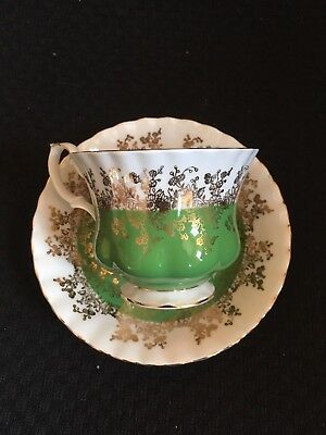 Regal Series Green Royal Albert Vintage Tea Cup Saucer