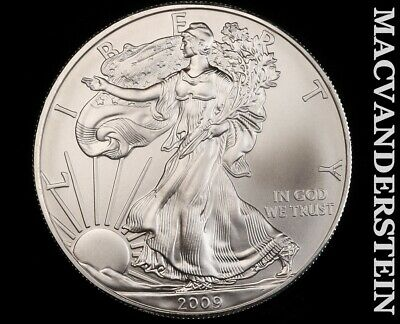 2009 American Silver Eagle 1 Ounce-Ch Gem Brilliant Unc!! No Reserve!! #f3411