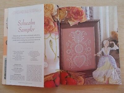Embroidery & Cross Stitch Vol 7 #4~Candlewick~Shadow Work~Ribbon~Stumpwork...