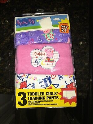 "2019 -   ""PEPPA PIG"" GIRL'S  3 pr.. PKG. ASSORTED TRAINING  PANTS  SIZE 2T NWT"