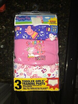 Peppa Pig Toddler Girls' 3pk Training Pant With Stickers And Potty Training Card