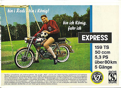 ZU EXPRESS 159 TS SACHS - 1966 ? catalogue brochure prospekt dépliant catalog