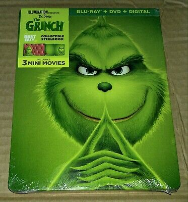 New The Grinch Steelbook™ Blu-ray/DVD/DC Bestbuy Exclusive USA