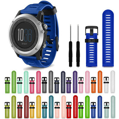 Replacement Watch Band For Garmin Fenix 3/HR Soft Premium Silicone Hot Brand New