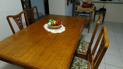 Furniture Dining Suite Solid Silky Oak 1920 Solid Wood