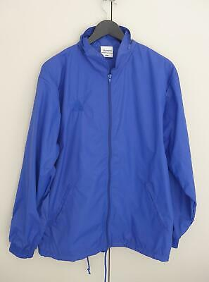 Lawn Bowls Clearance: NEW Domino Royal Blue Rain Jacket Size 14/M POST INCLUDED