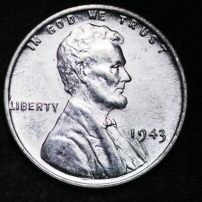UNCIRCULATED 1943 Steel Lincoln Wheat Cent Penny FREE SHIPPING