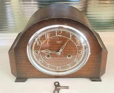 Vintage  'smiths Enfield'   8 Day Striking Clock - Working With Key