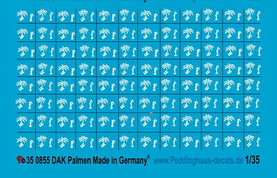 Peddinghaus-Decals 1/35 855 DAK Palmen