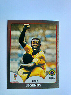 Panini Wc Coupe Du Monde Russie 2018 N°680 Legends Pele Bresil Brasil Gold Shiny