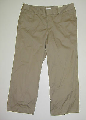 DOCKERS Stretch Crop Pant Size 10 Browns Cotton  Inseam 23 Khakis, Chinos $40