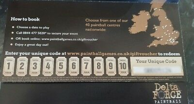 Delta Force Paintball Tickets Vouchers X 20 People