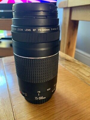 Canon EF 75-300mm 1:4-5.6 III Telephoto Lens for Canon EOS DSLR SLR (BM60)